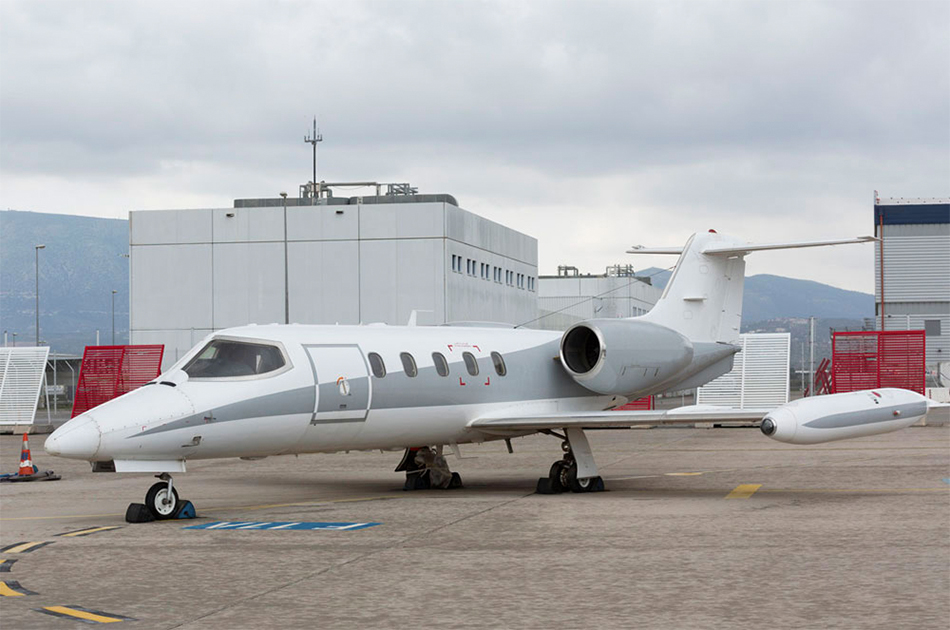 Learjet 35A heli air greece private jet charter